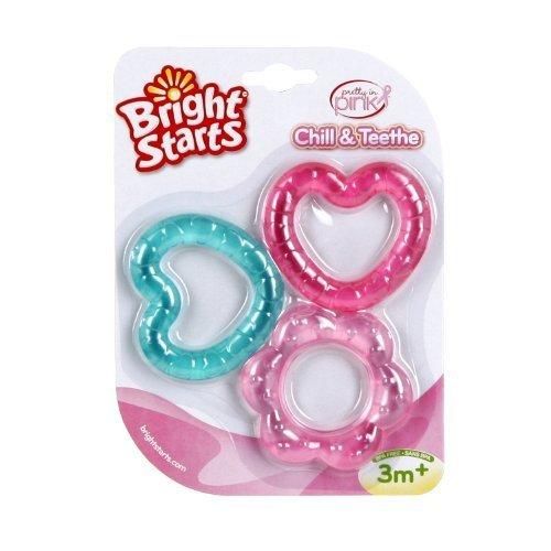 Bright Starts Chill and Teethe, Pretty in Pink NewBorn, Kid, Child, Childern, Infant, Baby