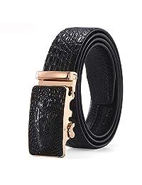HANXIAODONG Cinturón de Cuero para Hombres Cuero de Grano Completo con  Hebilla Anti-rayaduras de 91a612e3d4e6