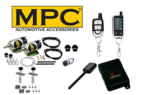 2-Door 80lb Shaved Handle Popper Kit with 2-Way Car Alarm and LCD Remote Control