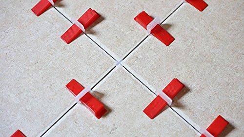 300 pcs//lot 2mm 1//16 Joint Clear Wall Floor Tile Leveling System Clip Tile Spacer DIY Installation Aligned Anti Lippage System KELANDA