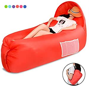 PAIGOU Air Sofa, Waterproof Inflatable Sofa, Portable Inflatable Sofa/Bed/Outdoor Hiking Camping Leisure Beach and Garden Leisure Sleeping Bag Camping Umbrella