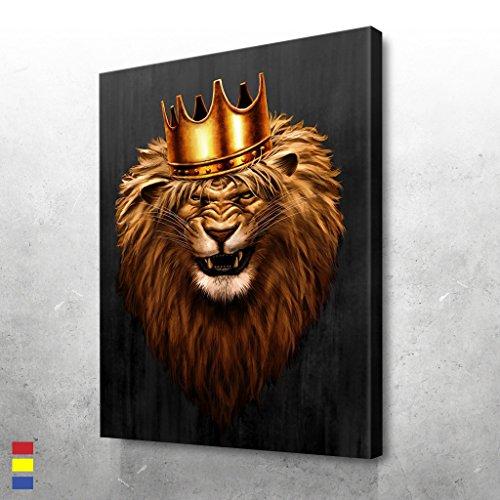 Lebron James Fabric (Canvas Cultures King Leo Motivational wall Canvas Art - Premium Materials - USA Made)