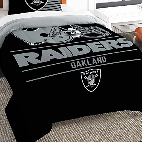 The Northwest Co mpany NFL Oakland Raiders Draft Twin 2-piece Comforter Set Raiders Bed Comforter