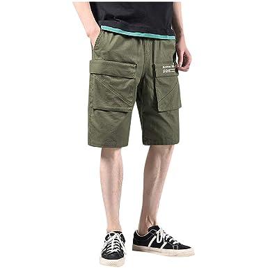 Homeparty Multi-Pocket Mens Shorts Fashion Pant Pocket ...