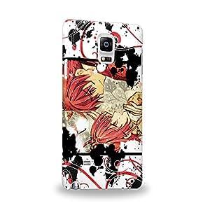Case88 Premium Designs Tsubasa Chronicle Syaoran Skaura 1402 Carcasa/Funda dura para el Samsung Galaxy Note 4
