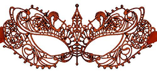 Luxury Mask Womens Lace Masquerade Mask Ana Burnt -