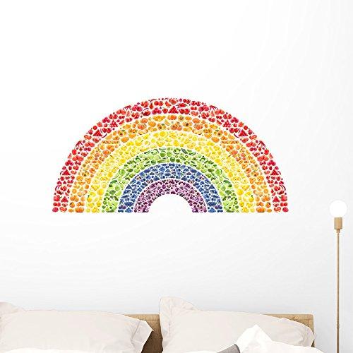 Wallmonkeys WM203123 Fruit and Vegetable Rainbow - Health...