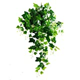 Rurality Artificial Wall Hanging Ivy Plants,Faux Plastic Plants Leaves for Home Decoration