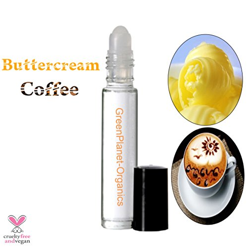 Pack of 2: Buttercream Coffee Perfume Oil (Smells like roasted Coffee beans with fresh churned Buttercream!) .33oz x2 Roll-Ons