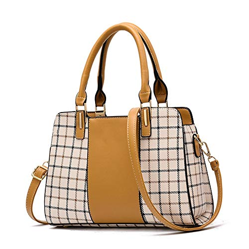 Yellow Version RFVBNM Mobile of Bag Pu Black Messenger Shoulder Bag Bag Ladies Mother Check Killer The Female Bag Korean Trend Bag ARr0PAxq