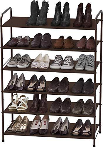 Simple Houseware 6-Tier Shoe Rack Storage Organizer, Bronze