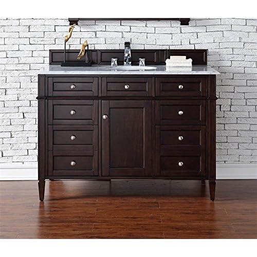 on sale 36 in. Single Bathroom Vanity with Carrara White Marble Top