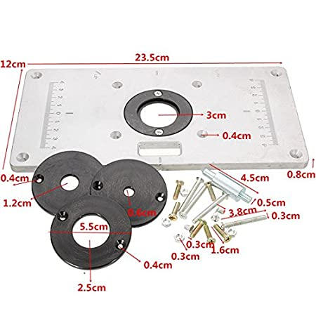 Esportsmjj 235mm x 120mm x 8mm aluminum router table insert plate esportsmjj 235mm x 120mm x 8mm aluminum router table insert plate for woodworking benches amazon kitchen home keyboard keysfo Image collections