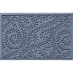 Bungalow Flooring Waterhog Doormat, 2' x 3', Skid Resistant, Easy to Clean, Catches Water and Debris, Boxwood Collection, Bluestone