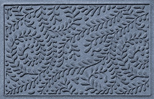 Bungalow Flooring Waterhog Indoor/Outdoor Doormat, 2' x 3', Skid Resistant, Easy to Clean, Catches Water and Debris, Boxwood Collection, Bluestone