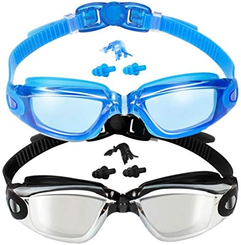 EverSport Swim Goggles Pack of two Swimming Goggles Anti Fog for Adult Men Women Youth Kids