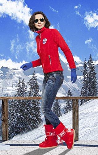 Nebulus Coral-Fleecejacke Wien - Chaqueta de esquí para hombre, color rojo, talla M rojo