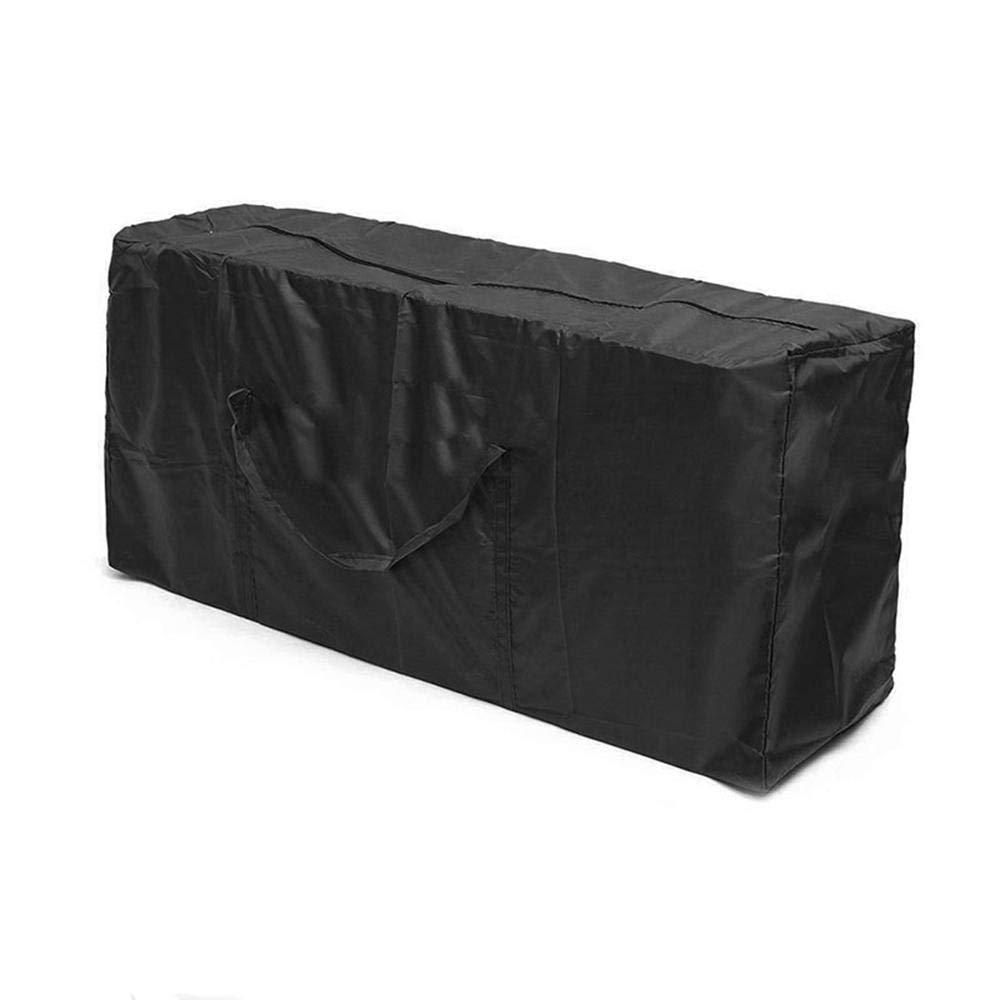 51cm Outdoor Patio Furniture Protection Bag,Christmas Tree Storage Mat Terrace Cushion Storage Bag,210D Oxford Cloth Black 116 Yeldou Furniture Cushion Storage Bag 47