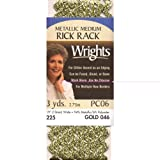 Wrights 117-225-046 Medium Metallic Rick Rack, Gold, 3-Yard