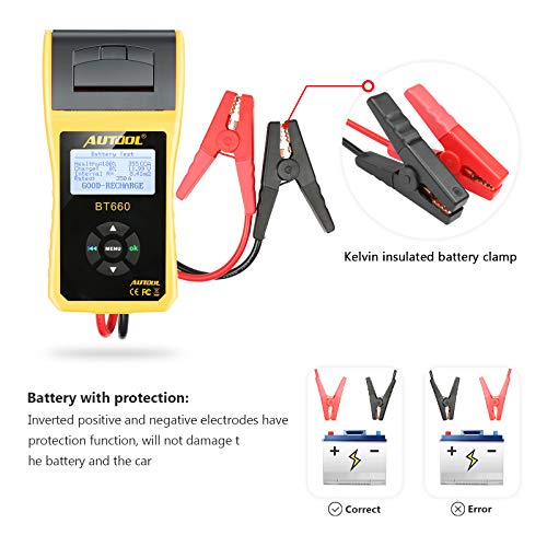 AUTOOL BT660 Battery Conductance Tester 12V/24V BT-660 Auto Battery Testers Automotive Diagnostic Tools for Heavy Duty Trucks, Light Duty Truck, Cars by AUTOOL (Image #6)