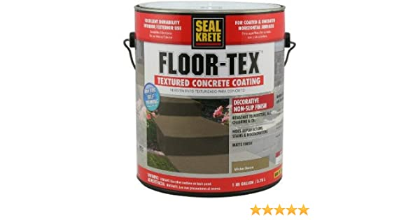 Floor Tex Textured Concrete Coating, Wicker Brown ~ Gallon     Amazon.com