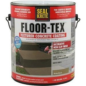 Floor Tex Textured Concrete Coating, Wicker Brown ~ Gallon