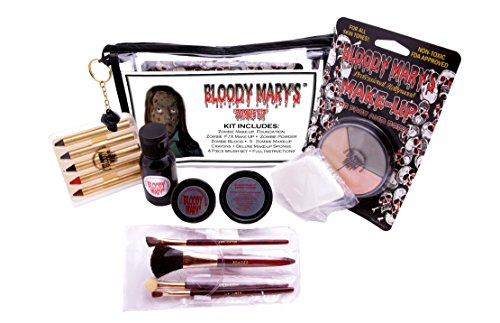 [Bloody Mary Zombie Professional Undead Makeup Kit] (Zombie Halloween Costume Makeup)