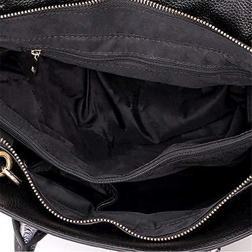 Ali Colore portatili di cuoio Baotou Bag e tendenza Nero Nero Messenger gnocchi strato spalla laptop europei delle pelle per Borse bovina di americani Sumferkyh pacchetto diagonale donne EwpSqw