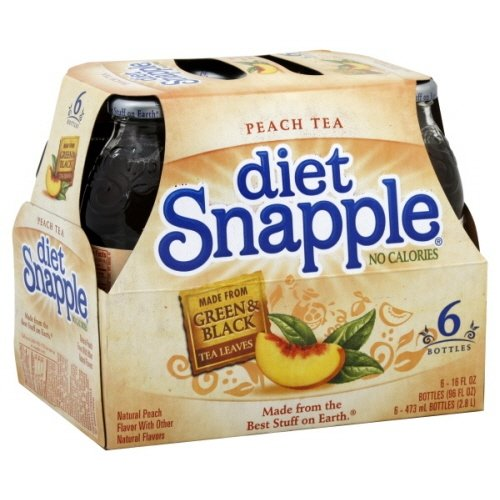 Snapple Tea 6 -16 Fl Oz, (Pack of 2) (Diet Peach)