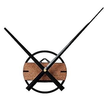 MagiDeal XXL Holz Wanduhr Uhrzeiger Große Uhr Zeiger Uhrwerk Ornament Für  Wohnzimmer