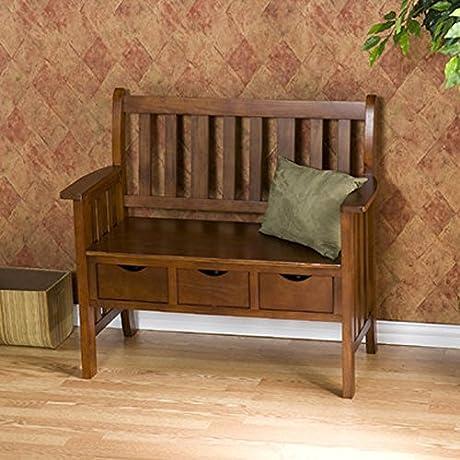 Wildon Home Quality Elegant Stylish Oak Finish Davidson Storage Wood Entryway Bench 36 H X 40 W X 19 5 D
