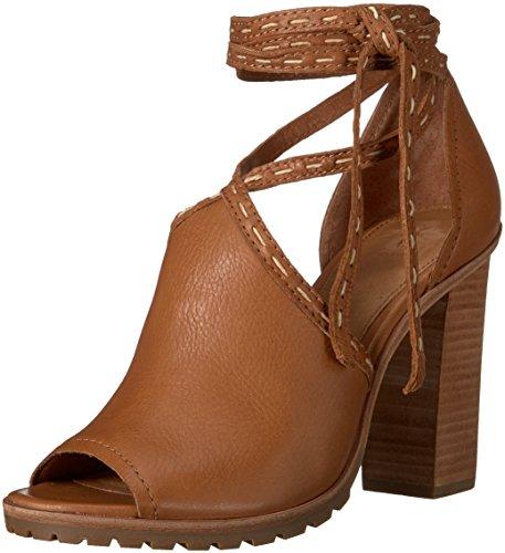 FRYE Women's Suzie Pickstitch Lug Heeled Sandal, Whiskey, 6.5 M US by FRYE