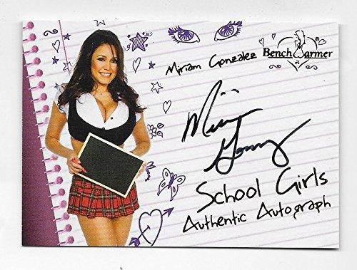 Miriam Gonzalez 2011 Benchwarmer School Girls auto#8 plad skirt