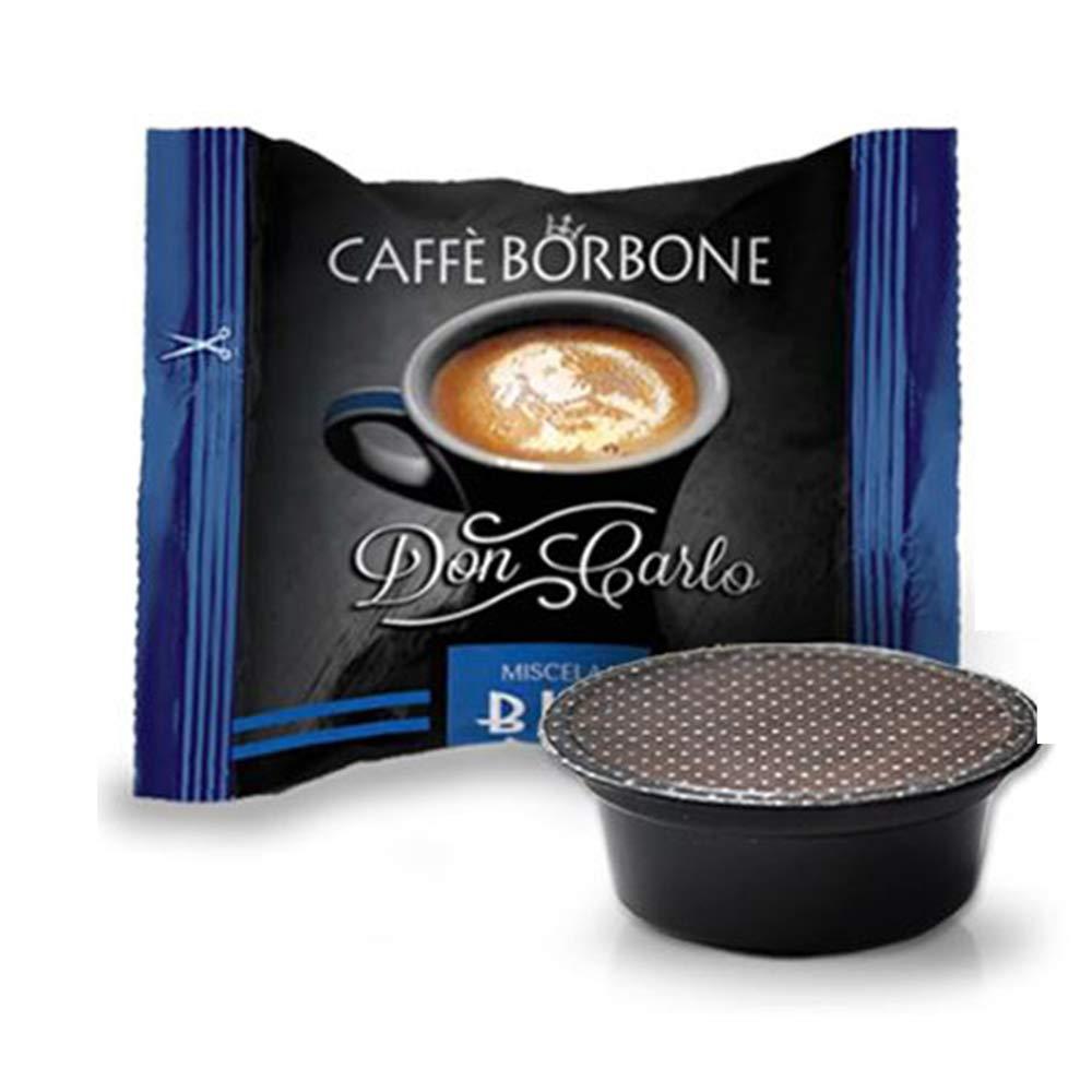 Cápsulas de café Don Carlo de Caffè Borbone, azul, compatibles con cafetera Lavazza A modo mio; 50, 100, 200, 300, 400, 500 unidades 400