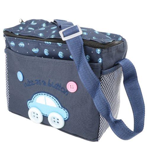 4piezas Cute As A Button–Bolsa para pañales y cambiador de pañales para bebé 4pcs Set–incluyendo el cambio Mat rosa pastel azul oscuro