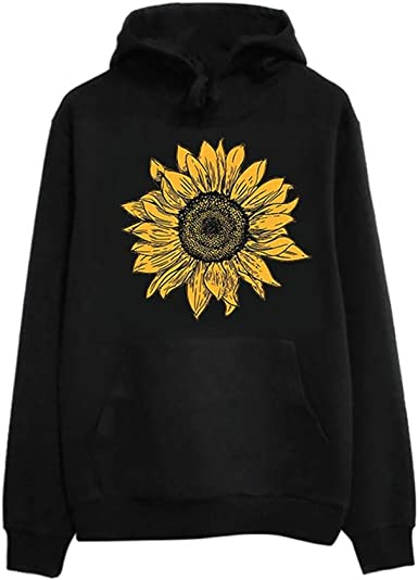 Sweater for Women Winter Ladies Casual Tops Casual Sunflower Print Sweatshirt Loose Blouse Long Sleeve Pullover Shrits