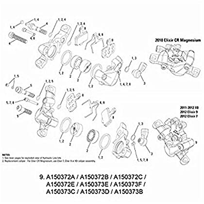 Image of Brake Calipers Avid Caliper assembly (74mm), 11/12 Code 'G3' (silver)
