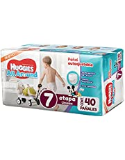 Huggies All Around Pañal Desechable para Bebé, Etapa 7 Unisex, Paquete con 40 piezas, Ideal para bebés de más de 17 kg
