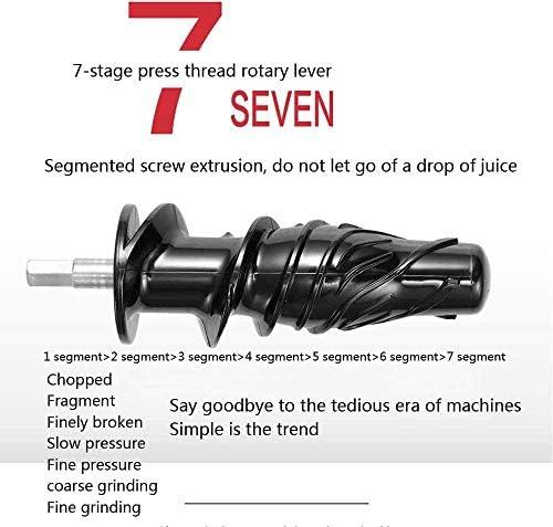 XYUN Juicer Compact Froid Machine de presse anti-oxydation lente Vitesse froide Juicer Presse calme à rendement élevé anti-oxydation supérieur nutriments et vitamines