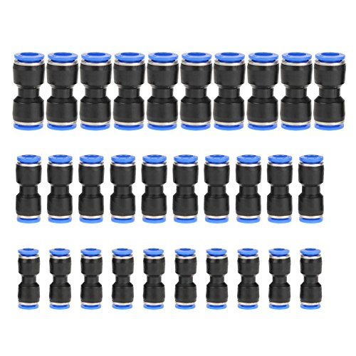 30 pcs Quick Release Pneumatic Parts Straight Push Connector