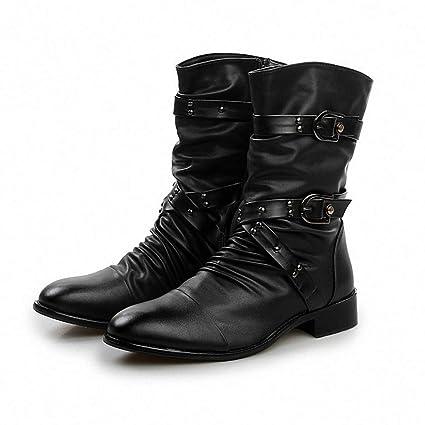 234b66735b2f4 Amazon.com: Giles Jones Men Motorcycle Boots Autumn Winter Fashion ...