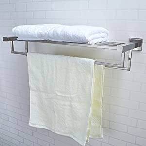 Kes Stainless Steel Bath Towel Rack Bathroom