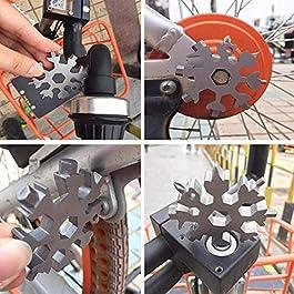 18-In-1-Schneeflocke-Multitool-Karte – Tragbare Edelstahl-Werkzeugkarte