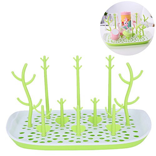 Exttlliy Removable Baby Bottle Drying Rack Nipples Sippy Cup