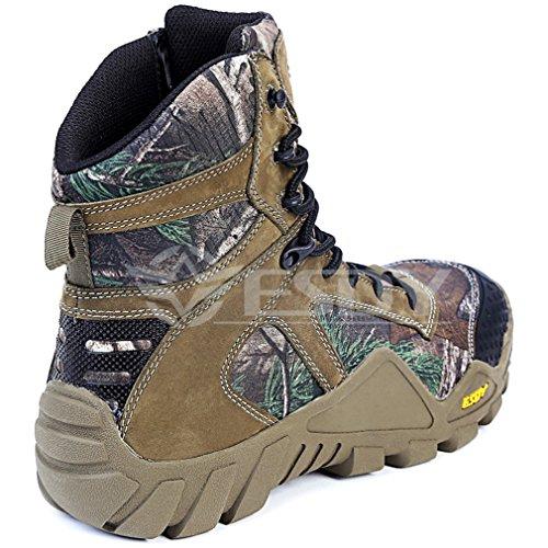 emansmoer Homme High-top Lace-up Camo Militaire Tactical Combat Bottes Imperméable Outdoor Chaussures de Chasse Randonnée Trail Camo VimXkLO