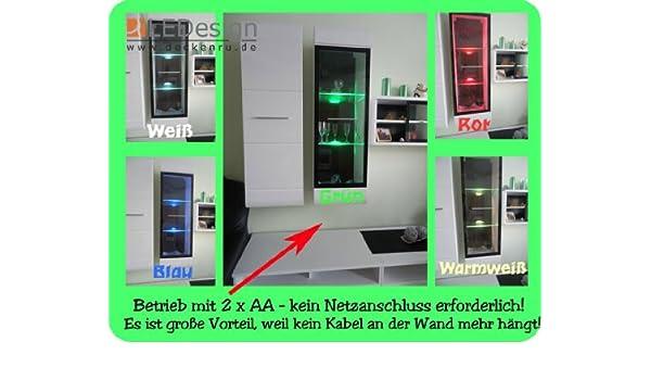 2er Set 3x LED Glaskantenbeleuchtung Glasbodenbeleuchtung Glasbeleuchtung Batteriehalter deckenru.de LEDs azul caliente-blanco blanco verde rojo: Amazon.es: ...