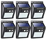 Solar Lights Outdoor, Motion Sensor Light 20 LED Flood Lights for Home Security, Patio, Wall, Pathway, Garden, Yard |Bright Waterproof Dusk to Dawn Lighting (6-Pack)