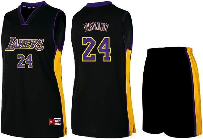 Camiseta de baloncesto Lakers Lebron James Kobe Bryant Fans de la NBA para niños y adolescentes adultos, kobe-black, 4XL(180-185CM): Amazon.es: Deportes y aire libre