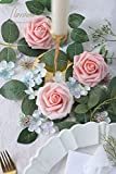 Floroom Artificial Flowers 50pcs Real Looking Peach