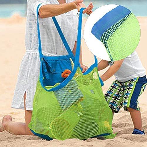 1 Pc Enfant Jouet Stockage Maille Sac Portable Plage Fourre Tout Pochette